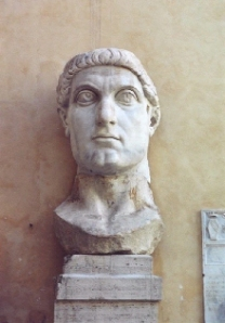Bust of Constantine the Great. revered as St. Constantine among Orthodox Christians.